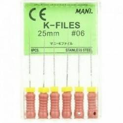 MANI K-files No.06 / МАНИ К-пили No.06, L=25мм