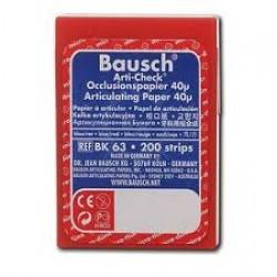 Артикулационна хартия на ленти - синя/червена - Bausch