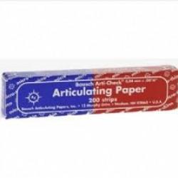Артикулационна хартия на блокчета - синя/червена - Bausch