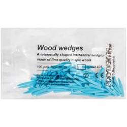 Wood wedges blue / Дървени клинчета сини - Polydentia