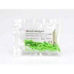 Wood wedges green / Дървени клинчета зелени - Polydentia